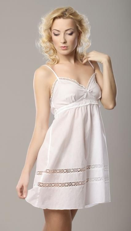 "Chemise nightwear women's ""Sweet fantasy"" semi-fitted silhouette with openwork embroidery"