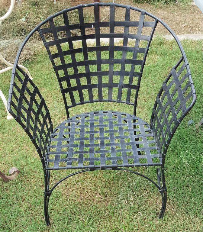 Cast-iron armchair