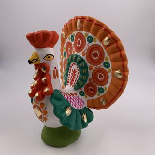 Clay toys Turkey, Dymkovo toy, 12 x 14 x 6.5