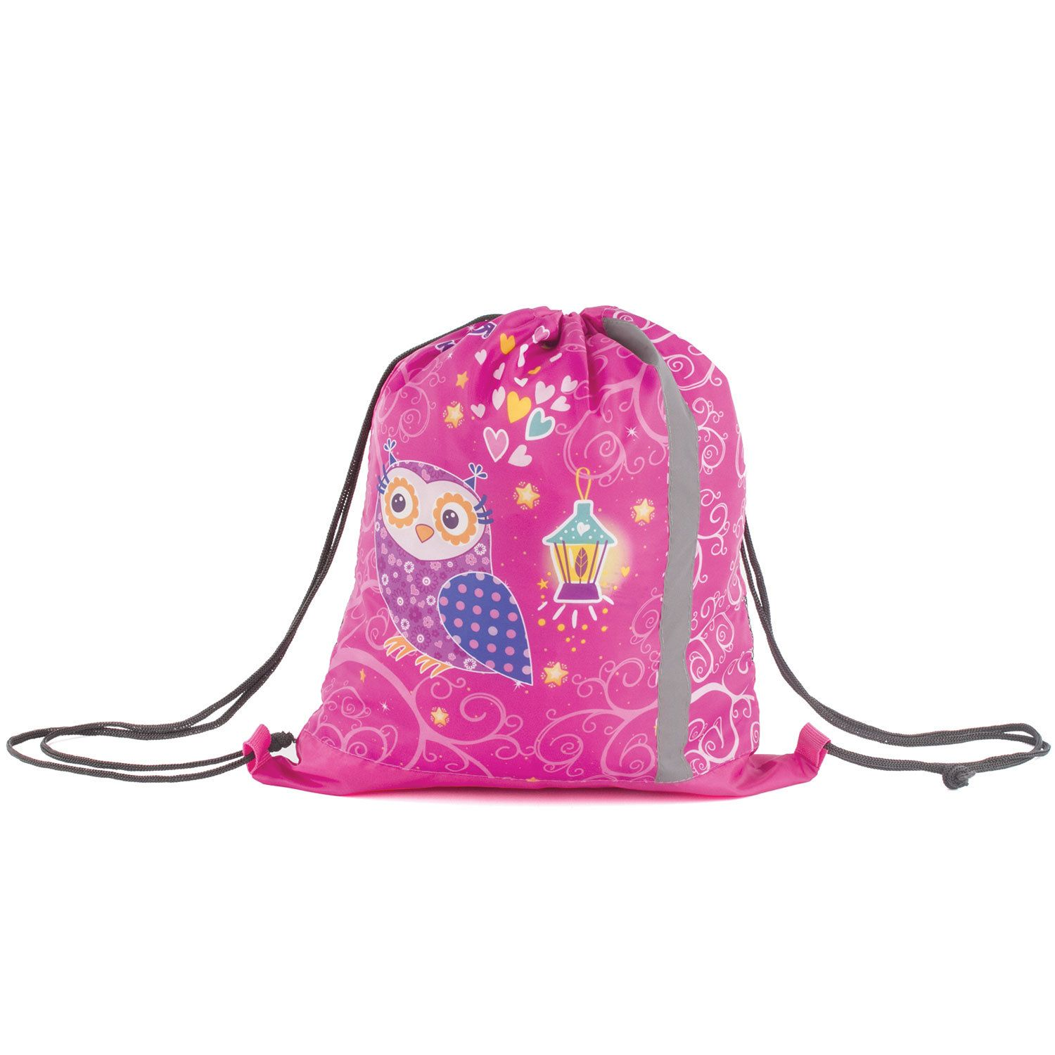 """Bag for shoes INLANDIA, 1 compartment, reflective strip, with the mesh 46 * 36 cm, the """"Owls"""""""