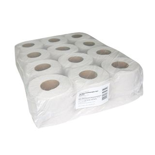 GOOD MOTOK / Toilet paper for household use, soldering 12 pcs. (12 rolls x 44 m), GRAY, on sleeve (economy)