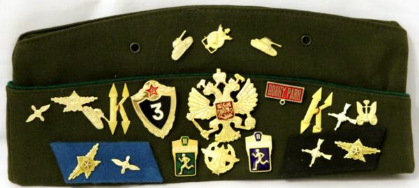 Matryoshka Factory / Army pilot with badges and emblems