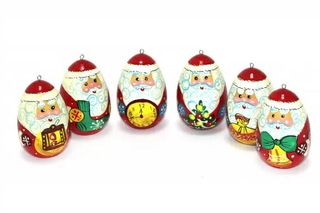 Set of Christmas decorations, 6 pieces