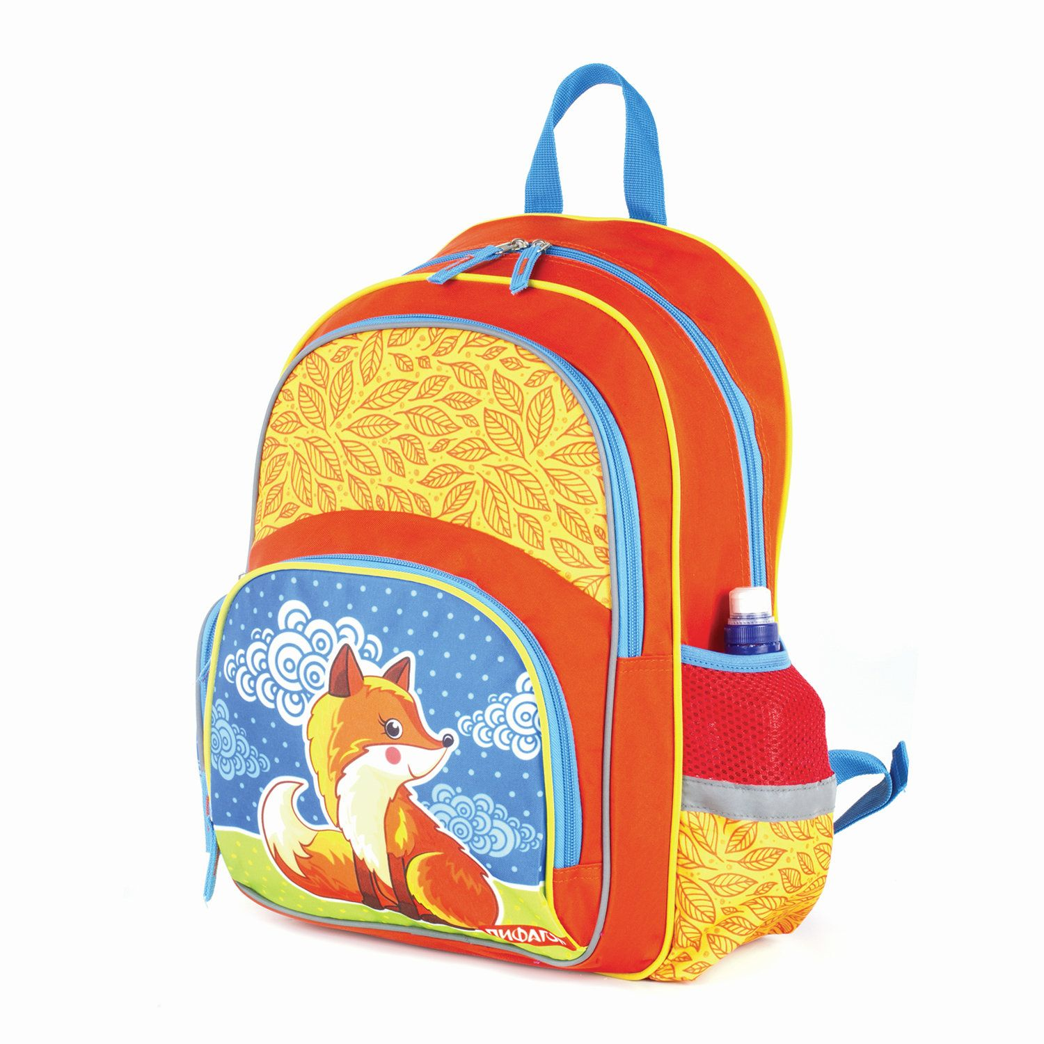 """Backpack PYTHAGORAS+ for pupils of elementary school """"Fox"""" 40h30h15 cm"""