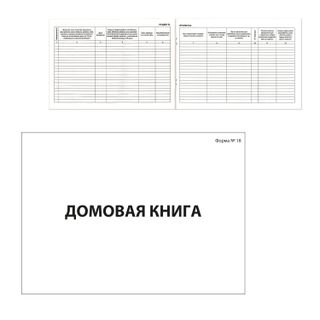 House book (apartment book), Form 18, 80 sheets, A4, 198 x278 mm, cardboard, offset, BRAUBERG