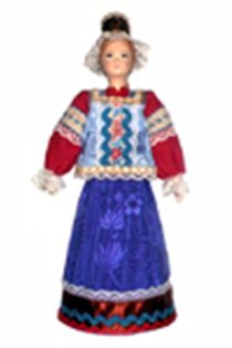 Doll gift porcelain. Tver lips. Russia. Maiden costume.