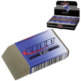 Eraser LACO (Germany), 48x24x12 mm, white, rectangular, beveled edge, PVC