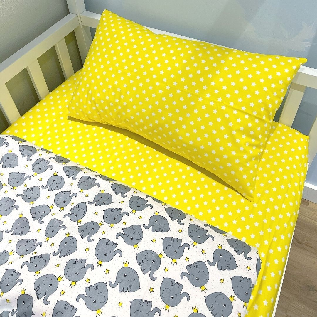 """Dreams Store / Bed set for children from 2 years old """"Sunny elephants"""""""