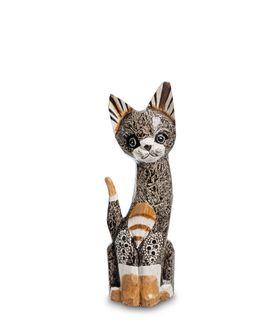 The wooden Cat figurine 30 cm