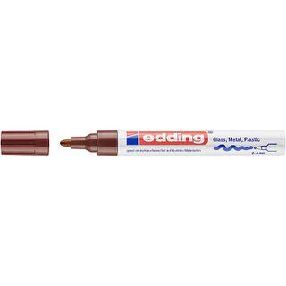 Edding / Marker varnish glossy, round nib, 2-4 mm Brown