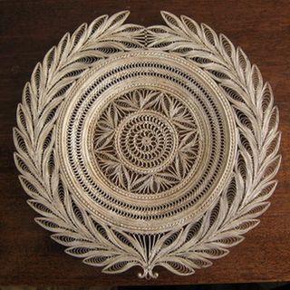 "Kazakov Filigree / Plate ""Symbol"" silvering"