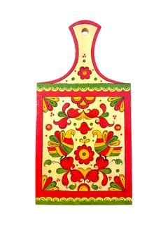 "Board kitchen rectangular ""Pyermogori painting. Two birds"" with handle 33.5 cm"