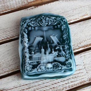 Handmade soap St. Petersburg with the Coat of Arms mix of colors and aromas