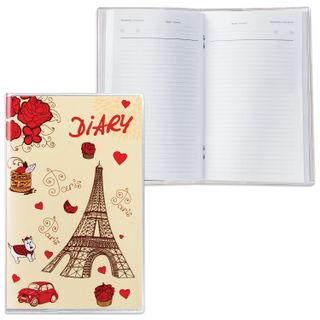 Diary of an undated SMALL FORMAT (101 x160 mm) A6, DPS, PVC cover, 50 sheets, pen,