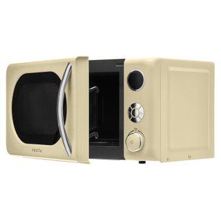 VEKTA TS720BRC microwave oven, 20 litre volume, 700 watt power, mechanical control, timer, cream