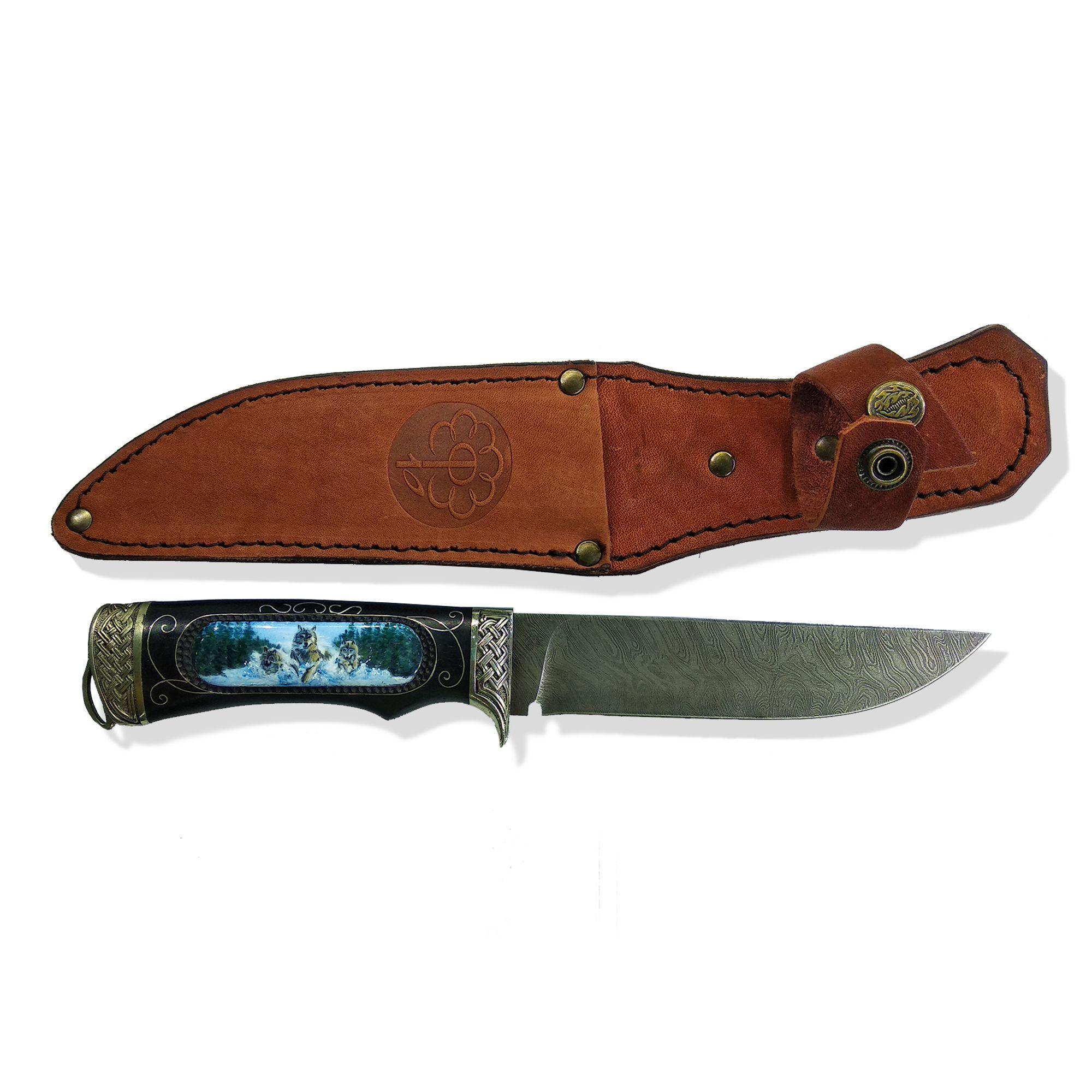 """Rostov enamel / Hunter's knife """"Wolves"""""""