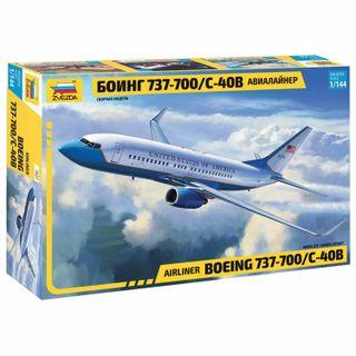 Model for bonding SLETE Airliner passenger Boeing 737-700 C-40B, scale 1:144,STAR