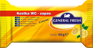 """General Fresh / WC replacement insert for toilet bowl freshener """"KOSTKA do WC"""""""