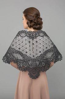 "Lacy shawl ""Firebird"" black, Madame Cruje"