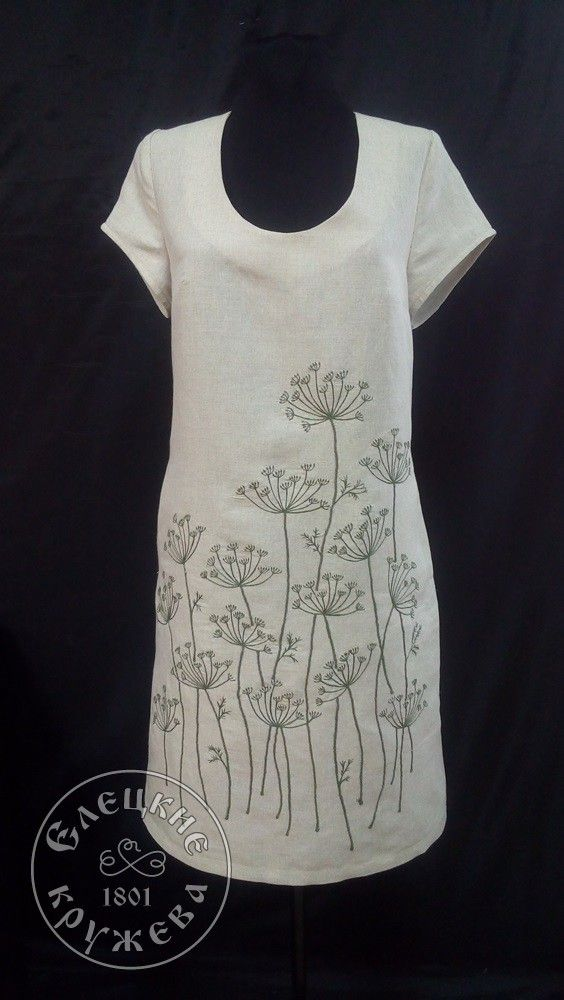 Yelets lace / Women's linen dress С11728