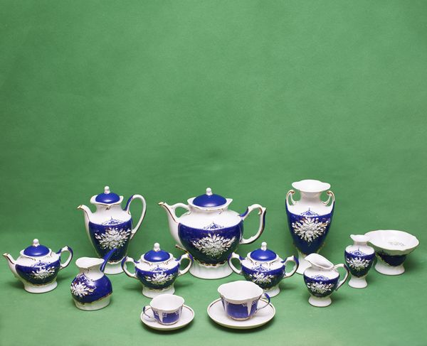 Delta-X / Tea and coffee set for 6 persons, 34 pieces, serial