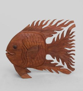 "Wooden statuette ""Golden fish"" 32 cm"