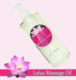 Lotus massage oil