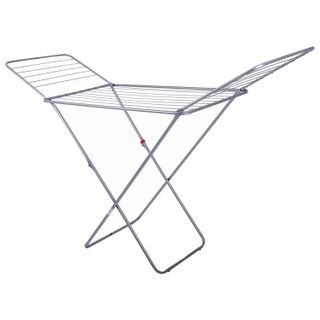 """DOGRULAR / Clothes dryer """"House Plus"""", 18 m drying length, 55 cm wide, floor-standing, folding, steel"""