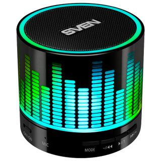 SVEN / Portable speaker with backlight PS-47, 1.0, 3 W, Bluetooth, FM tuner, USB, black