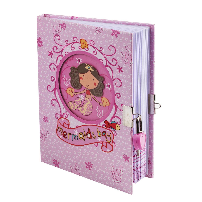 """BRAUBERG / Notebook """"Mermaid"""", 96 sheets A5 (133x178 mm), hardcover, metal lock, 3D drawing, rhinestones, line"""