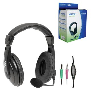 DEFENDER / Headphones with microphone (headset) HN-750, wired, 2 m, stereo with headband, volume control
