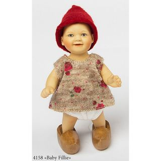 Birgitte Frigast / Porcelain doll Baby Fillie, 10 cm