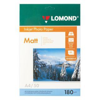 Photo paper for inkjet print, A4, 180 g/m2, 50 sheets, single-sided matte LOMOND