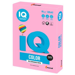 Paper I'color BIG FORMAT (297 x420 mm), A3, 80 g/m, 500 sheets, neon, pink
