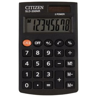 Pocket calculator CITIZEN SLD200NR (98x60 mm), 8 digits, dual power supply