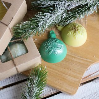 Handmade Soap Set Christmas Balls