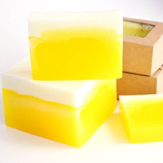 Pineapple-Lemon whetstone 500g - handmade glycerin soap