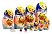 Russian woman - Russian doll booklet, 10 dolls - booklet No. 14 'Bouquet'