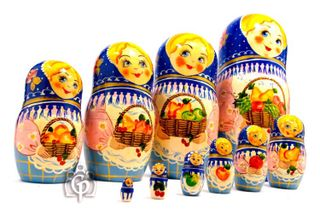 Russian woman - Russian doll booklet, 10 dolls - booklet No. 14