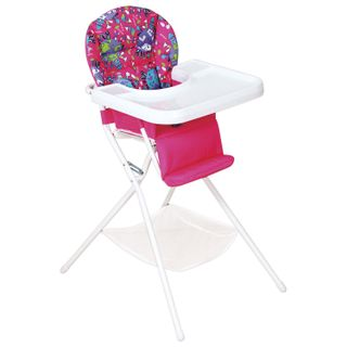 Baby chair for feeding DEMI KDS.03, removable table, color pink / white