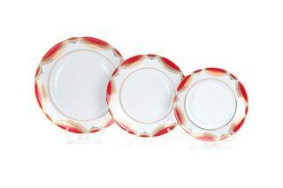 Dulevo porcelain / Set of plates 18 pcs. Cut-out edge Classic