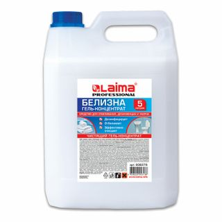 5 litres bleaching, disinfection and cleaning, BELICA-GEL (chlorine 15-30%), LAIMA PROFESSIONAL