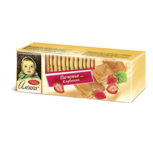 Alenka cookies (with strawberries and milk)