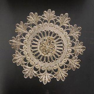 "Kazakov Filigree / Plate ""Snowflake"" silvering"