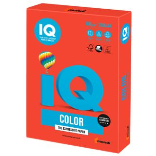 Paper I's color, A4, 160 g/m2, 250 sheets, coral-red intensification