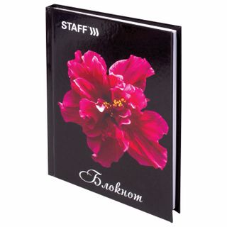 Small FORMAT Notebook (110x147 mm) A6, 80 sheets, hardcover, laminated cover, cage, STAFF,