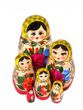 Traditional matryoshka 6 dolls - view 2