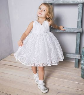 Guipure dress with flowers  Code: 1722132