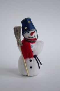 Snowman. Textiles. Doll gift