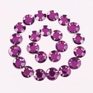 Rhinestones for creativity, Round, purple, 8 mm, 30 grams, TREASURE ISLAND